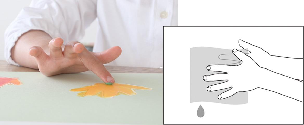 ゆび絵の具の特徴