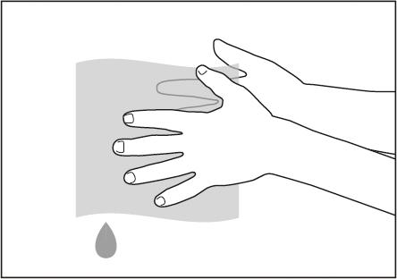 手に付着した絵の具は濡れた布やウェットティッシュでかんたんに落とせます。