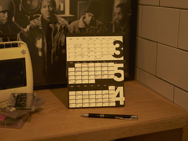 3ヶ月カレンダー スリーズ