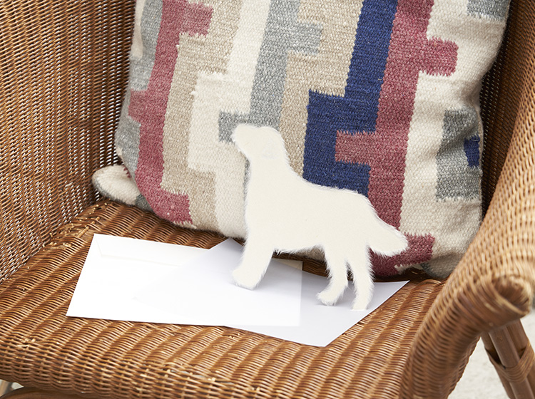 美濃和紙のグリーティングカード Washi犬