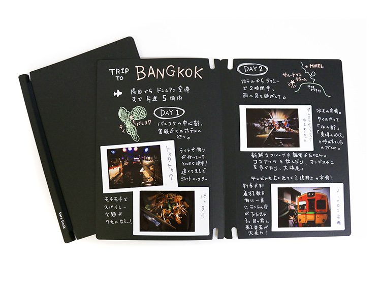 スクラップブックSara bookで作った旅行記