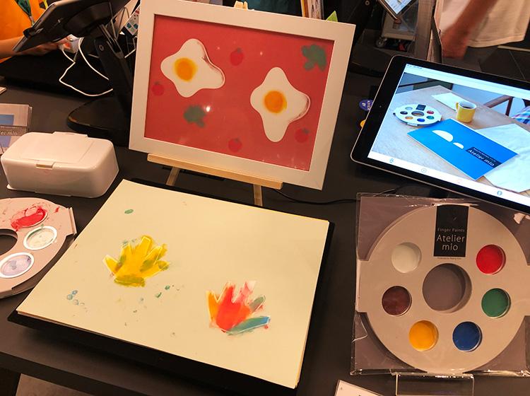 フィンガーペイントのお絵かきセットアトリエミオ蔦屋家電+展示