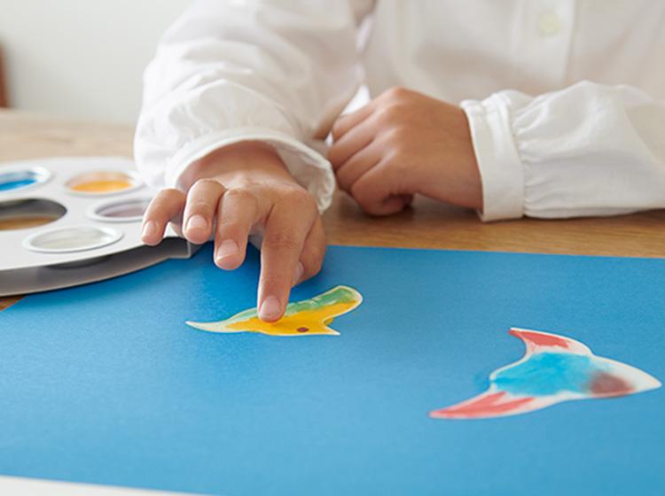 フィンガーペイントのお絵かきセットアトリエミオ